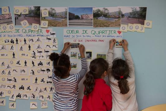 Programmation des usages du Parc de l'Abreuvoir, quartier Edouard Vaillant l'Abreuvoir (NPNRU), Bobigny (93) Quartier d'intérêt national