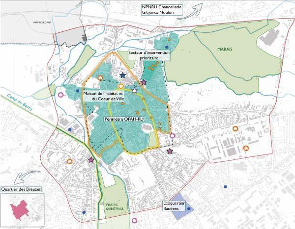 Elaboration des orientations et du programme d'actions de la démarche « Action Cœur de Ville » à Bourges (18)