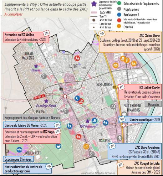 Mission d'accompagnement et de concertation interservices pour la co production d'un process interne de prospective communale des besoins en équipements, Vitry-sur-Seine (94)